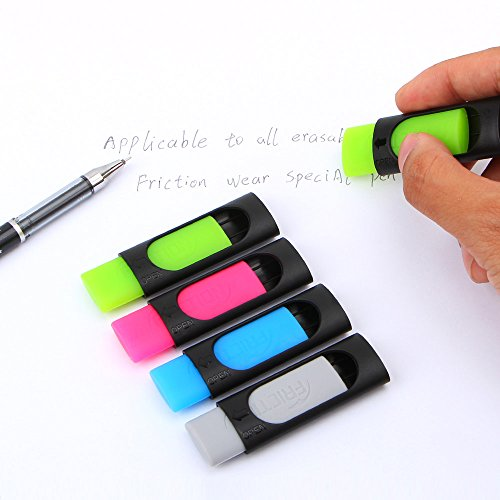 DDAYUP Friction Ink Eraser for Erasable Pen, Yellow green, Light blue,Grey (Set of 4 Color) by DDAYUP (Image #2)