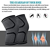Knee support brace compression sleeve for women men