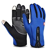 Vbiger Thick Warm Texting Gloves Cold Weather Gloves Cycling Gloves for Men & Women(Blue2,M)