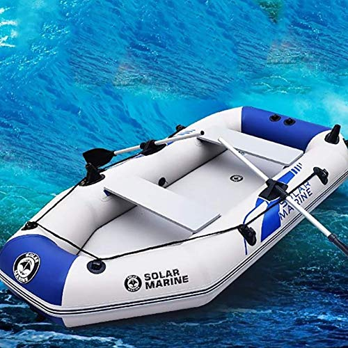 HYYQG Inflatable Kayak 4 Person,Kayak Accessories Paddles Trolleys Roof Rack Shoes Cover Anchor Leash Straps Sea Pump Fishing Kit Rod Gloves