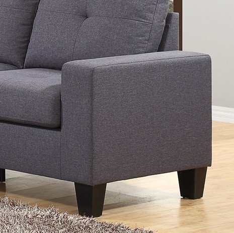 Fernanda Grey Fabric Loveseat Sofas And Couches Olivia