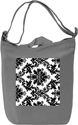 Black Print Borsa Giornaliera Canvas Canvas Day Bag| 100% Premium Cotton Canvas| DTG Printing|