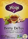Yogi Berry DeTox Caffeine Free 16 Tea Bags, Net Wt. 1.12 Oz/ 32 g