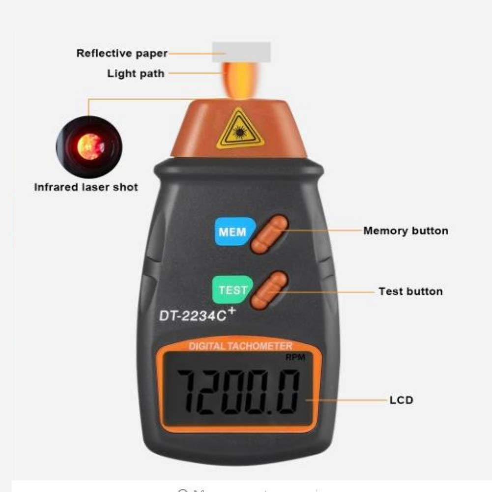 Zavarea Pocket Type Laser Tachometer Photoelectric Speedometer Handheld Laser Tachometer