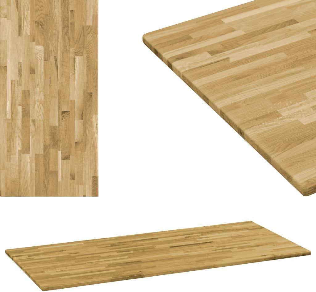 vidaXL Eichenholz Tischplatte 33mm 33x33cm Holzplatte für