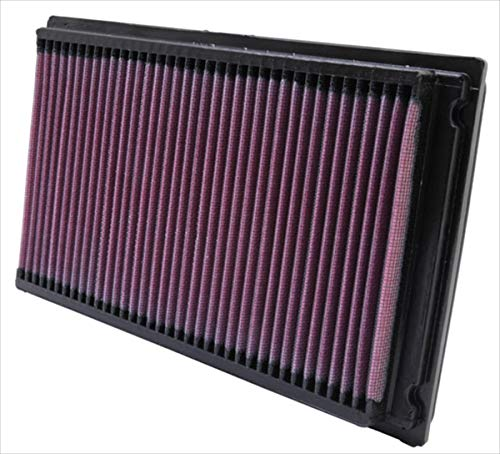 K&N engine air filter, washable and reusable:  1981-2019 Nissan/Infiniti/Renault L4/V6 (Maxima, Murano, Pathfinder, Altima, Elgrand, Quest, Terena, X-Trail, QX60, FX35) 33-2031-2 ()