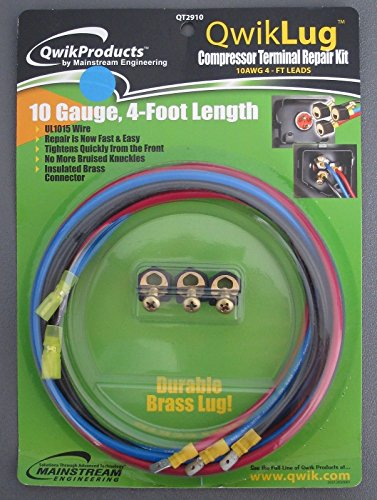 QwikLug QT2910 3 Terminal Repair Kit 10AWG 4FT LEADS W/SPADE 10 GAUGE (10awg Terminal)