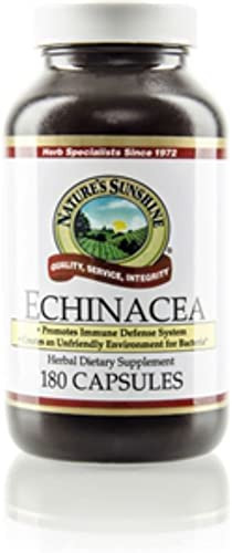 Nature's Sunshine Echinacea Purpurea, 180 Capsules Enhances the Activity of the Immune System and Supports a Healthy Inflammatory Response
