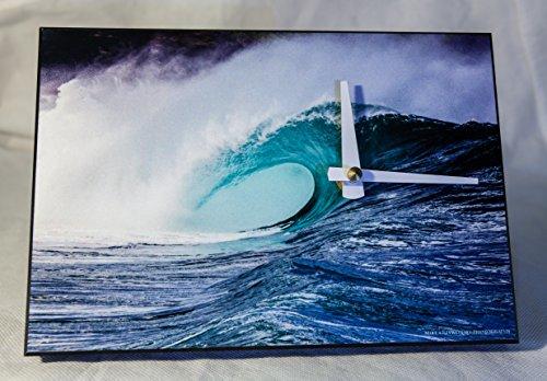 Clock w/ Blue Hollow Wave Breaking at Waimea Bay, Oahu, Hawaii by Mike Krzywonski Photography