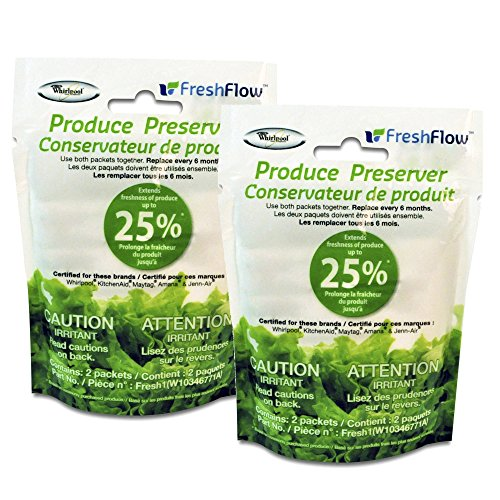 Whirlpool W10346771A Fresh Flow Produce Preserver Replacement Packet, 2 Pack