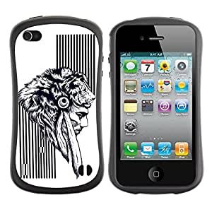 fashion Case for Apple iPhone 5s for kids / Native American Warrior