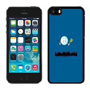 XiFu*MeiBeautiful Custom Designed Cover Case For iPhone 5C With Funny Cartoon Earth Phone CaseXiFu*Mei