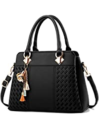 339a5b9545 Womens Handbags and Purses Fashion Top Handle Satchel Tote PU Leather  Shoulder Bags