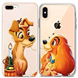 Lex Altern Couple iPhone Case Lady and the Tramp Xs Max X Xr 10 8 Plus 7 6s 6 SE 5s 5 TPU Clear Cute Gift Disney Apple Girlfriend Phone Dog Love Cover Anniversary Print Protective Matching Silicone