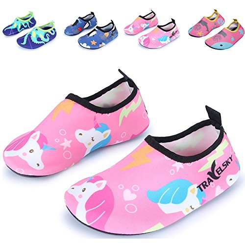 Image of Vivay Toddler Kids Water Shoes Quick Drying Swim Beach Shoes Aqua Socks for Boys & Girls