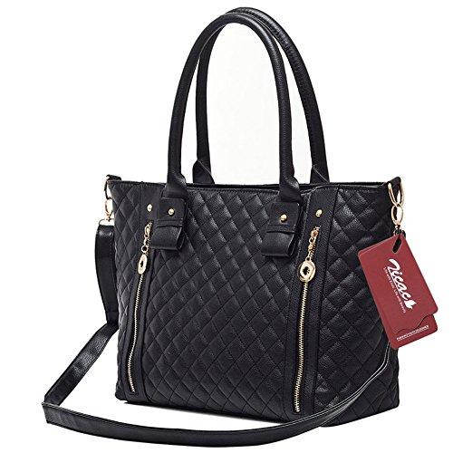 Zicac Women's Vintage Leather Shoulder Handbag Satchel Tote Cross Body Bag