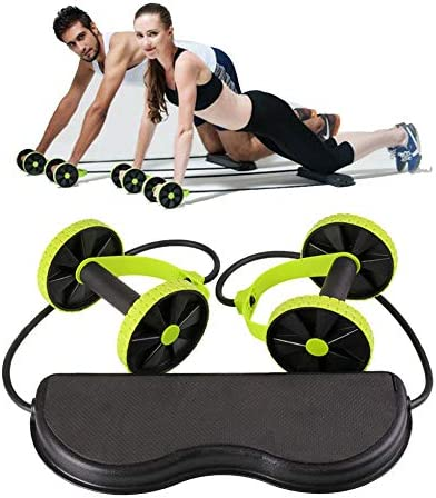 KAZOLEN Double Ab Roller Wheel, Home Gym Workout Equipment Core Abdominal Exercise Fitness Trainer 4