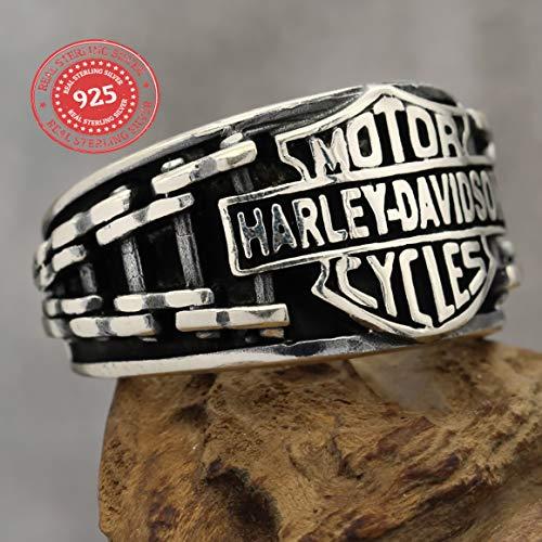 Harley Davidson Sterling silver 925 biker ring handmade men women ()