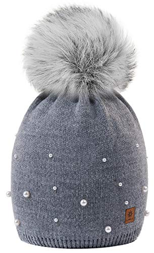 Big Gris Modelo Snowboard Pom Wool Knit Womens Beanie Girls Color Bobble Winter Ball 4sold Ski 1 Cap Hat Ladies Women Con AaOUxR7