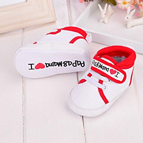 Sneaker Säugling Kleinkind Niedlich Schuhe Kind Sohle Rot Amison Mädchen Baby Junge Leinwand weiche 6gwEF4xzq
