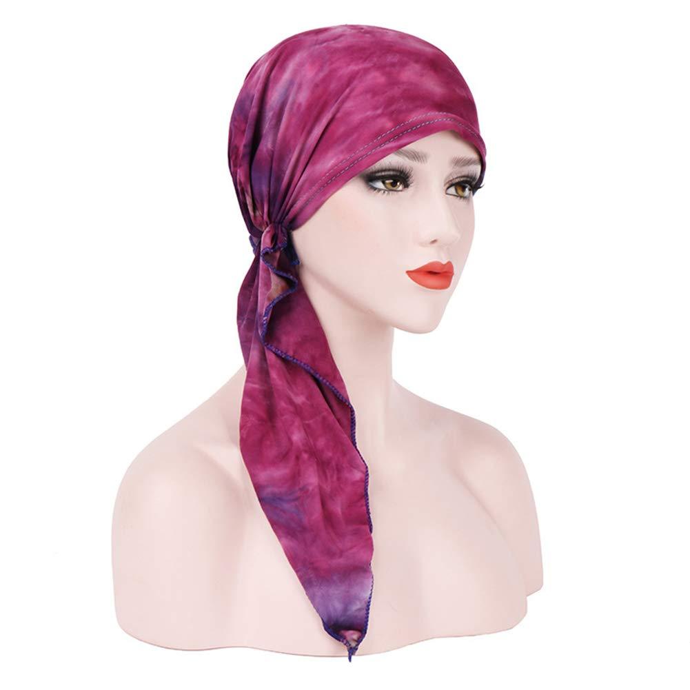 Amorar Bandane Musulmane Cotone Bandana Turbante Chemo Cancro Cappuccio Hijab Bandana Bandana Sciarpa Cappello Copricapo Dormiglione per la Perdita dei Capelli Cancro cap Chemioterapia Chemo