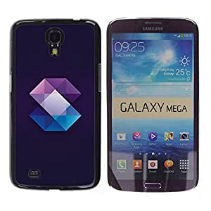 iKiki Tech / Estuche rígido - Crystal Gemstone Polygon Black - Samsung Galaxy Mega 6.3 I9200 SGH-i527