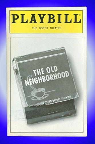 The Old Neighborhood, Broadway Playbill + Patti LuPone, Peter Riegert, Mary McCann, Jack Willis, Vincent Guastaferro