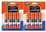 Office Products : Elmer'S Washable School Glue Sticks - Purple 4/Pkg-.24oz