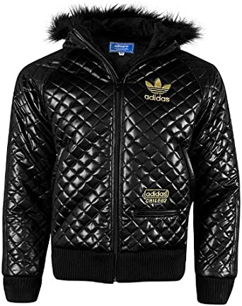 adidas Original 'Chile 62' Quilted Jacket with A Fur Hood