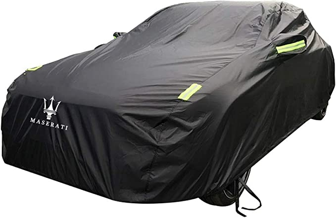 Indoor Outdoor Full Automobiles Covers All Season Waterproof Windproof Car Guard Car Accessories Defender Black All Weather Car Cover Compatible with Maserati Ghibli//GranTurismo Coupe Convertible