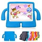 ipad cover for kids - Lioeo iPad Air 2 Kids Case iPad Air Kids Case Cute 3D Cartoon Light Weight Shock Proof Protection Cases EVA Foam Protective Children Cases and Covers for Apple iPad 5 6 Generation New iPad 2017 (Blue)
