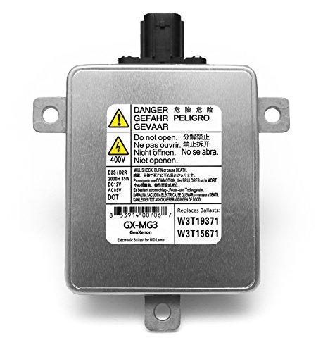 Headlamp Module (Acura Mazda Mitsubishi Xenon HID Ballast Headlight Control Unit Assembly Module Replaces W3T19371, W3T15671 and W3T13072)