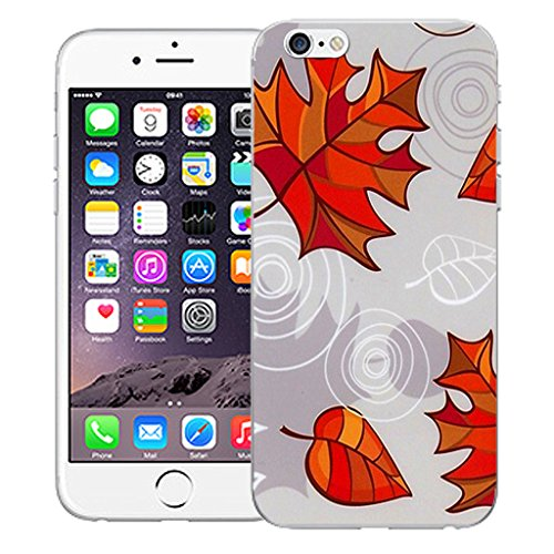 "Mobile Case Mate iPhone 6S 4.7"" Silicone Coque couverture case cover Pare-chocs + STYLET - Leaf pattern (SILICON)"