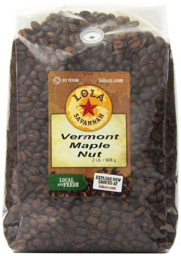 Lola Savannah Vermont Maple Nut Whole Bean Coffee - Arabica Beans with Just A Hint Of Nut Flavor | Caffeinated | 2lb Bag