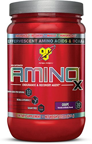 BSN Amino X Post Workout Muscle Recovery & Endurance Powder with 10 Grams of Amino Acids Per Serving, Flavor: Grape, 30 Servings