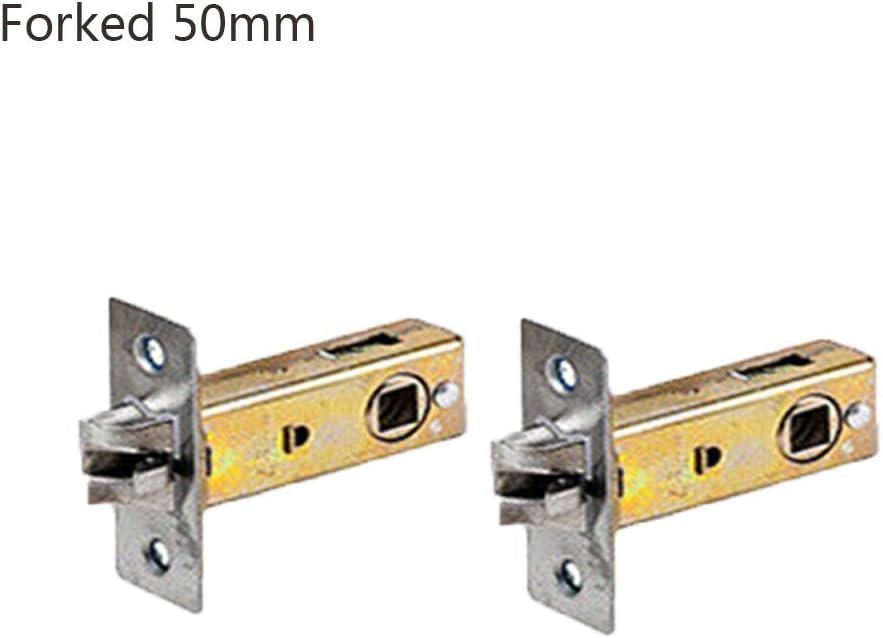 TOOLDO 2 Sets r/öhrenf/örmiger Einsteckriegel Edelstahl T/ürriegel T/ürgriffe flach//drei Sch/üsse//unsichtbar//Gabel