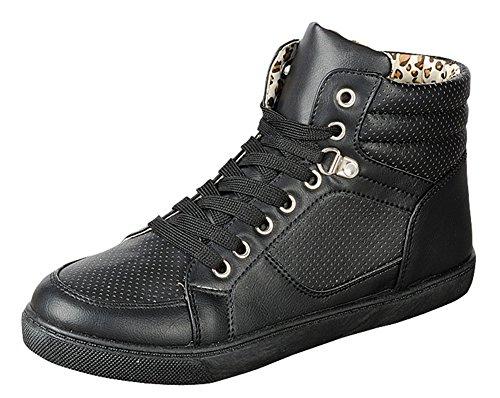 Js Sveglio Da Donna Perla-02 Sneakers Alte Alla Caviglia, Nero, 8.5