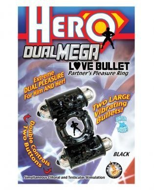 Hero dual mega love bullet - black (Package Of 2)