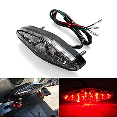CICMOD Motorcycle 15 LED Brake Running Turn License Plate Tail Light Quad ATV Bike Motorbike 12V New (Type A): Automotive