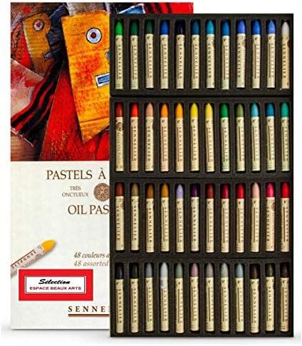 Sennelier Pastels Oil 48 Colors - Künstlerische Qualität (Frankreich Import) Made IN France