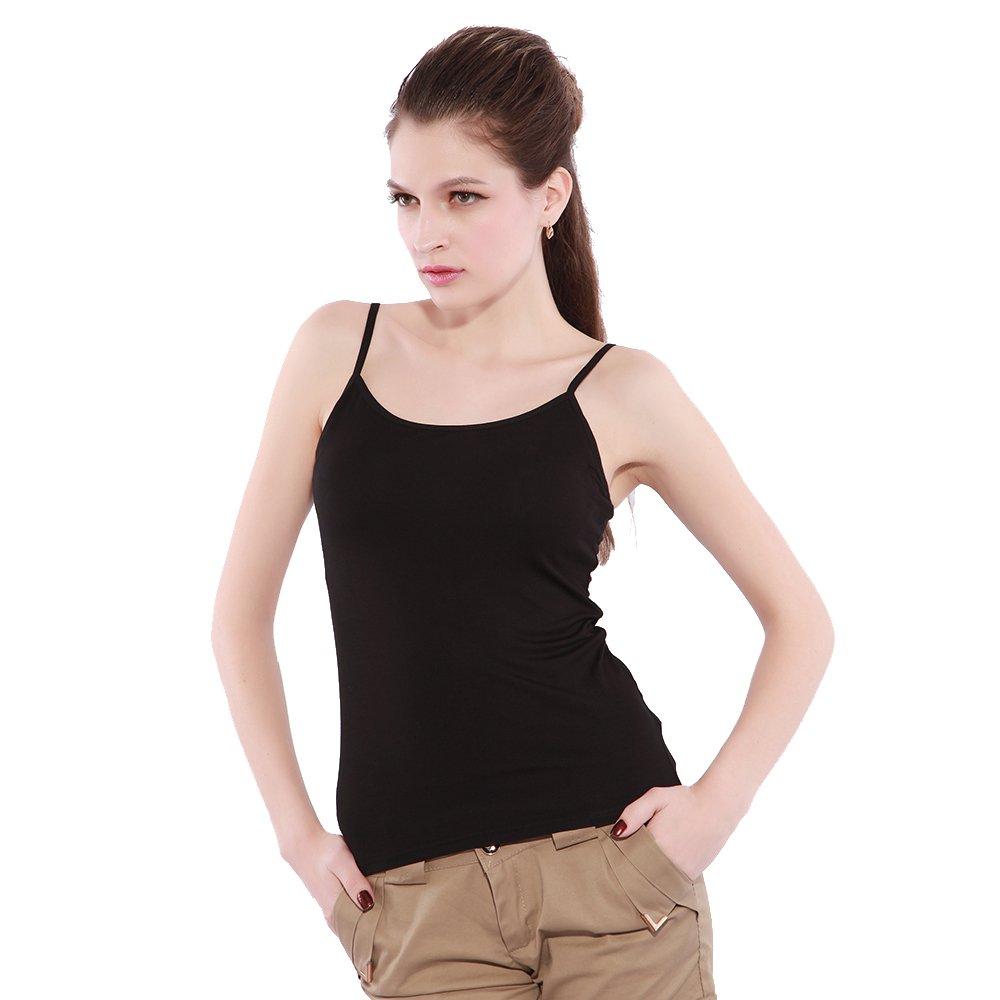 2f600c57a4998 KEALLI Women s Sports Camisole Built-in Bra Adjustable Spaghetti Strap Tank  Top Padded Cami Tanks (L