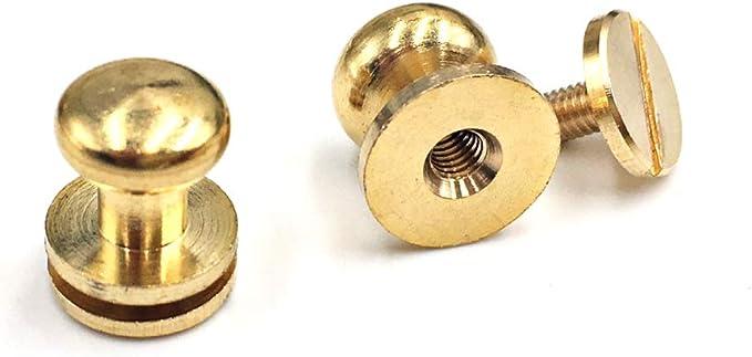 Flat Head Button Bag Hardware Polygon Belt Strap Chicago Screw Back Rivet Concho Stud Gold Silver Black 220pcs 7mm Screwback Shoe Blacelet