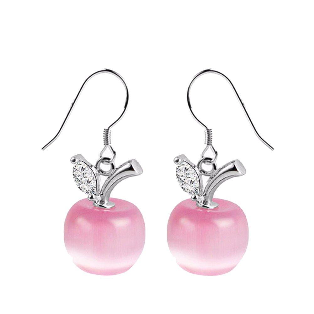 Monbedos 1Paar Trendige Ohrringe Apple Ohrringe Damen Ohrringe Schmuck Geschenk für Hochzeit Party Zubehör