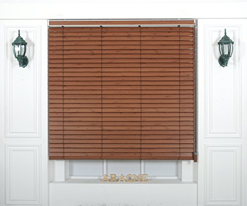 Foiresoft Custom Cut to Size, [Winsharp Wood Uvclassic, uvclassic_904, W 95 x H 64 (Inch)] Horizontal Window Real Wood(Basswood) Blinds & Treatments, Maximum 95 Inch Wide 103 Inch Long ()