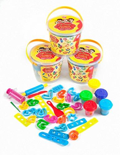 Desi Doll Fun Dough Arabic Alphabet Bucket Cutters - Dough Alphabet Cutter