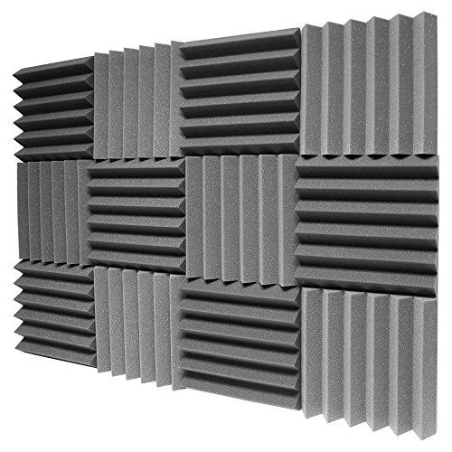 ATS Wedge Foam Acoustic Panels (Charcoal) - 12x12x2 (Ats Acoustic Panel)