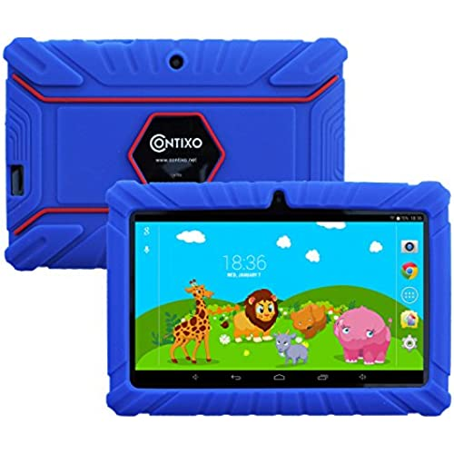 Contixo 7-Inch 8GB Kids Tablet with Kid-Proof Case Bundle with US Power Adapter, USB Cable, Quick Start Guide and Warranty Card (Dark Blue) Coupons