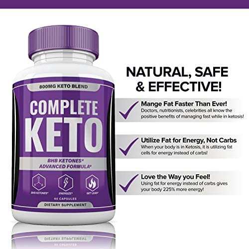 Complete Keto Pills 800mg, Keto Complete Diet Pills Capsules BHB Supplement, Complete Ketogenic Diet for Beginners, BHB Ketones Slim Pills for Energy, Focus - Exogenous Ketones for Men Women 5