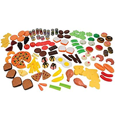 "Constructive Playthings MTC-402 Bargain Buffet Mini Foods 130 p. Set Made of Soft Vinyl, Plastic and Sturdy Card Stock; Bacon is 3 1/2"" L. Doughnut is 2"" Diam. for Ages 3 Years and Up: Industrial & Scientific"
