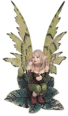 StealStreet SS-G-91148, Fairy Collection Green Pixie Desk Decoration Figurine Collectible